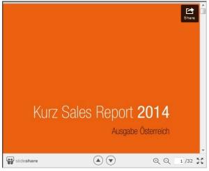 Slide Share Vorschau Vertriebs Report 2014